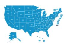 Food Manager Certification - U S  State Map | ANSI-Approved